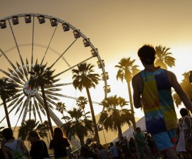 The sun sets on the first day of the second weekend of the Coachella Valley Music and Arts Festival at the Empire Polo Club in Indio, Calif., on Friday, April 18, 2014. (Jay L. Clendenin/Los Angeles Times/MCT) ORG XMIT: 1151869